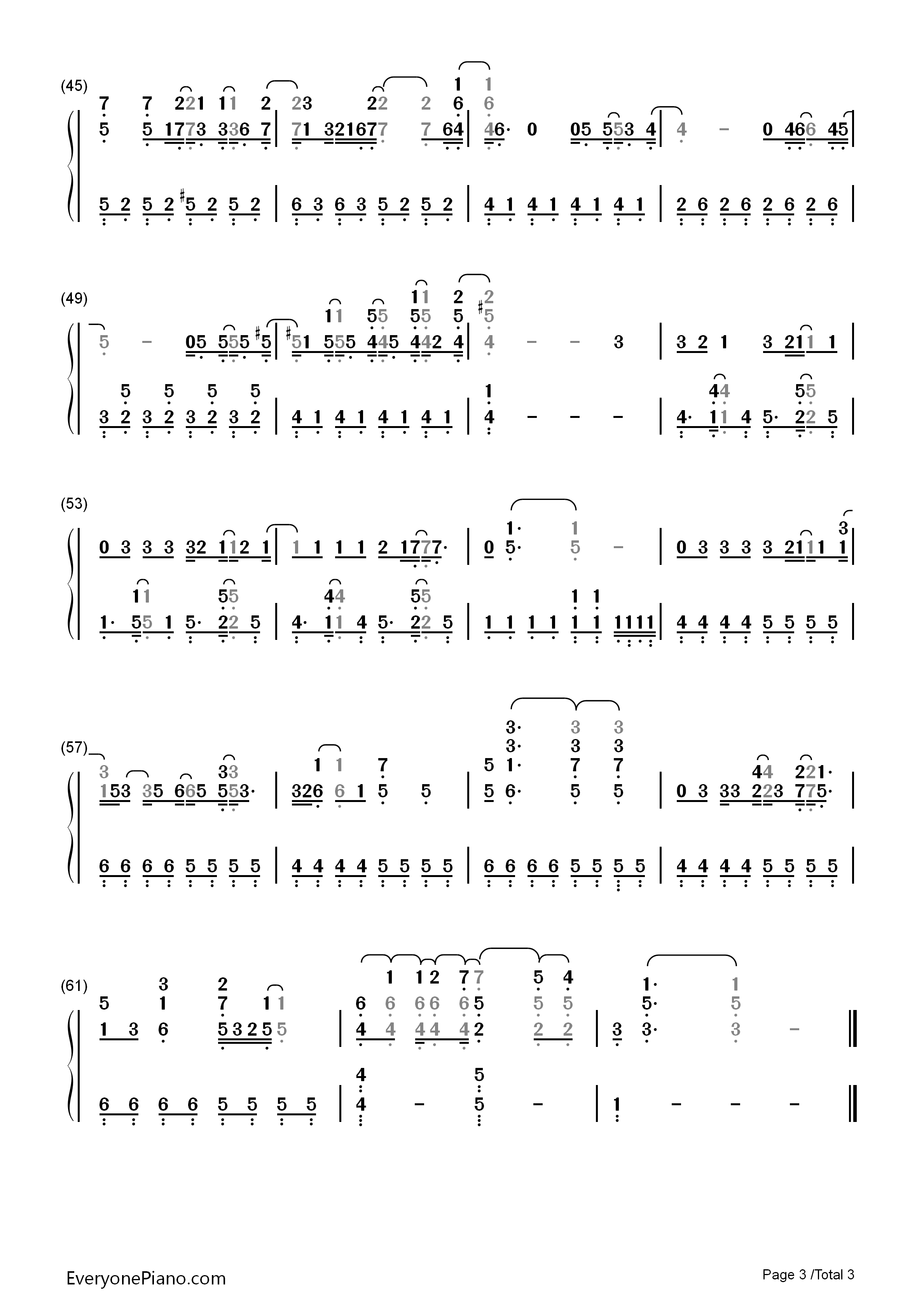 Catch me demi lovato numbered musical notation preview 3 free listen now print sheet catch me demi lovato numbered musical notation preview 3 hexwebz Gallery