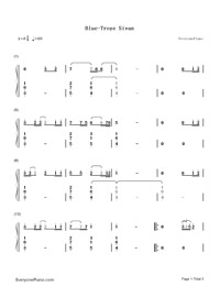 Blue-Troye Sivan-Numbered-Musical-Notation-Preview-1