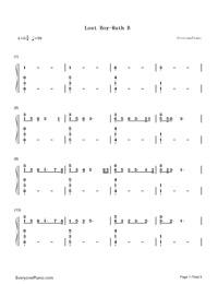Lost Boy-Ruth B Free Piano Sheet Music & Piano Chords