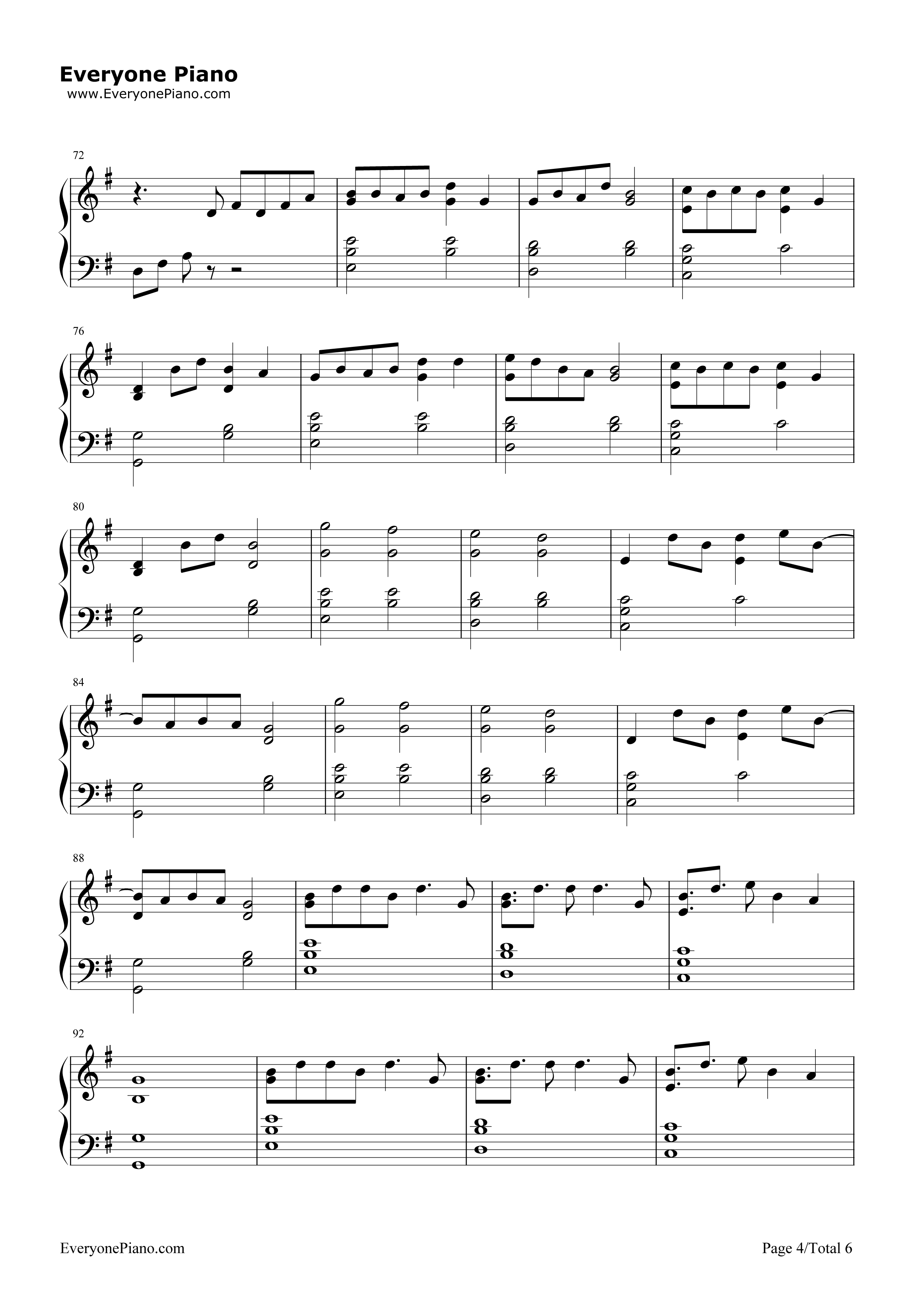 Lost boy piano chords ruth b music sheets chords tablature and lost boy ruth b stave preview 4 free piano sheet music u0026 piano chords hexwebz Images