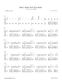Small Hands Hold Big Hands-Fish Leong-Numbered-Musical-Notation-Preview-1