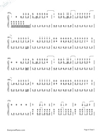Try Everything-Zootopia Theme-Numbered-Musical-Notation-Preview-4