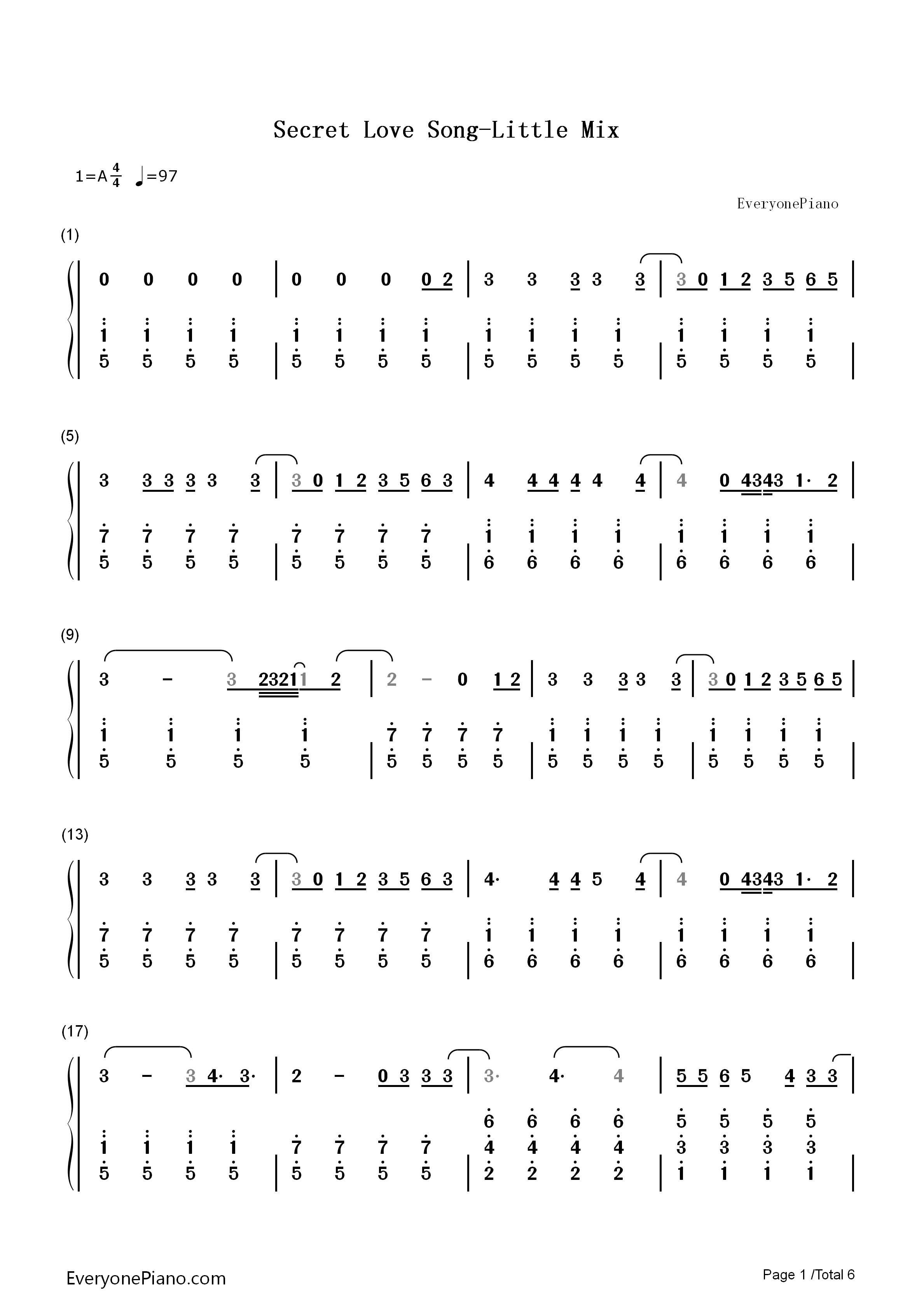 Secret love song little mix numbered musical notation preview 1 listen now print sheet secret love song little mix numbered musical notation preview 1 hexwebz Choice Image