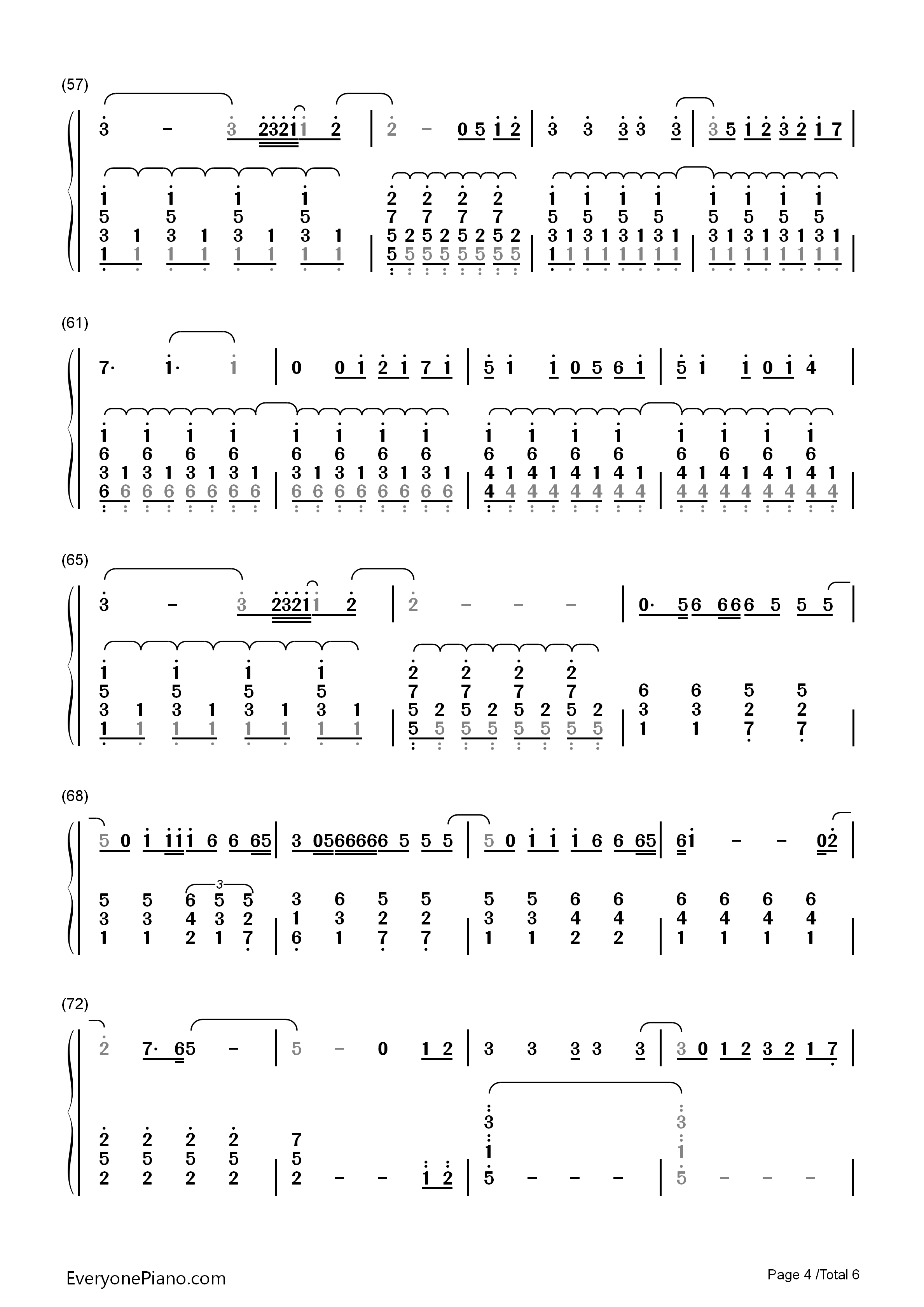 Secret love song little mix numbered musical notation preview 4 listen now print sheet secret love song little mix numbered musical notation preview 4 hexwebz Choice Image