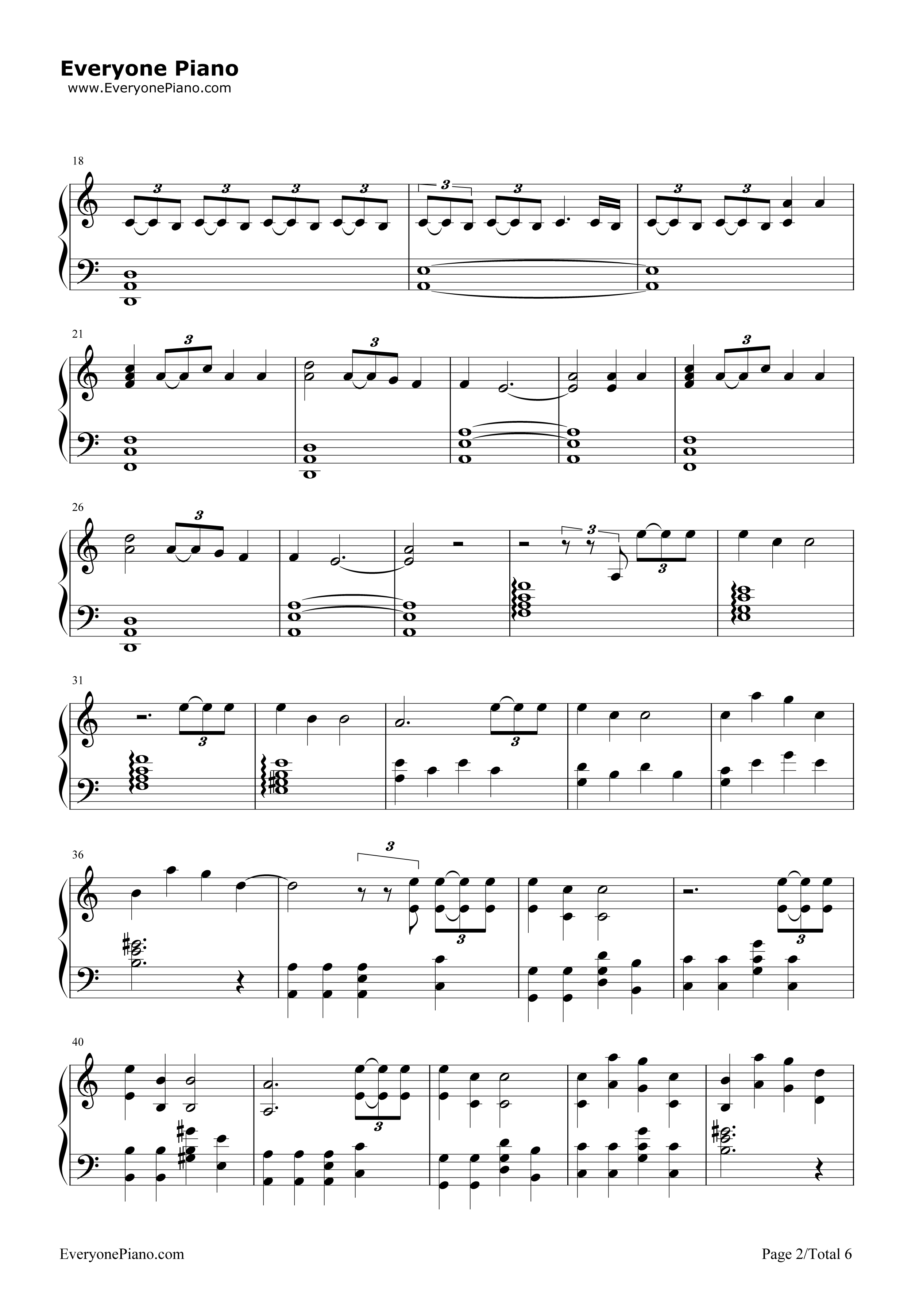 Stressed Out-Twenty One Pilots Stave Preview 2-Free Piano Sheet Music u0026 Piano Chords