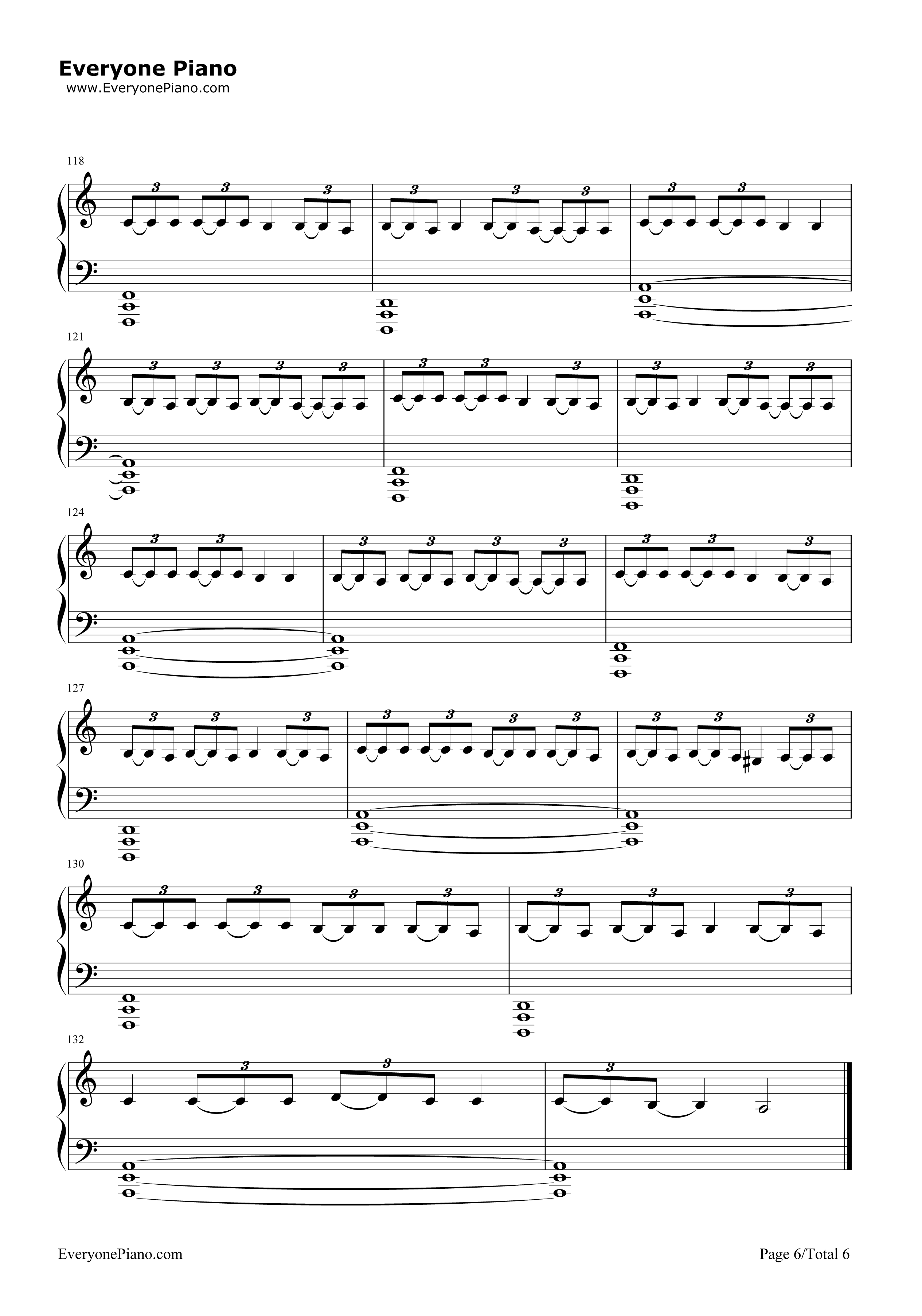 Stressed Out-Twenty One Pilots Stave Preview 6-Free Piano Sheet Music u0026 Piano Chords
