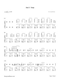 Small Bump-Ed Sheeran-Numbered-Musical-Notation-Preview-1