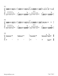 Grade 8-Ed Sheeran-Numbered-Musical-Notation-Preview-3
