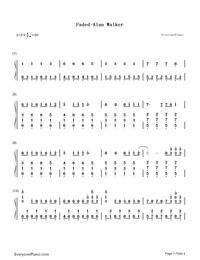 Faded Alan Walker Free Piano Sheet Music Piano Chords