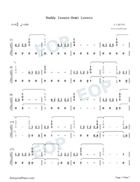 Daddy Issues-Demi Lovato-Numbered-Musical-Notation-Preview-1