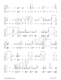 Daddy Issues-Demi Lovato-Numbered-Musical-Notation-Preview-2