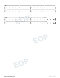 Daddy Issues-Demi Lovato-Numbered-Musical-Notation-Preview-7