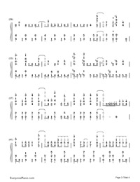 No Poi!-Is the Order a Rabbit OP-Numbered-Musical-Notation-Preview-3