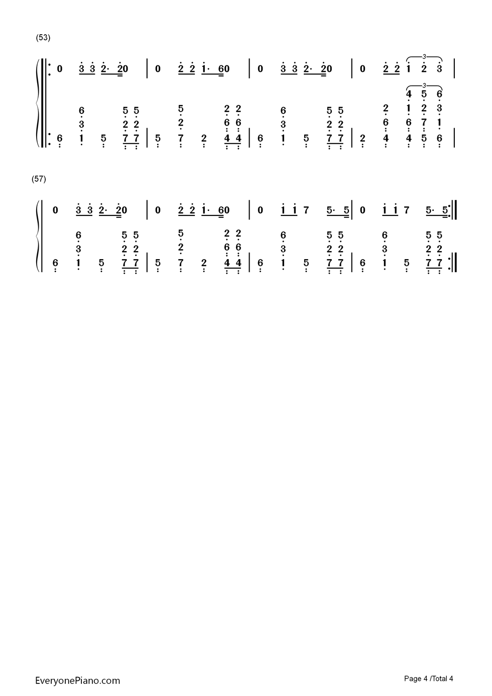 Ain't Nobody (Loves Me Better) Numbered Musical Notation Preview 4