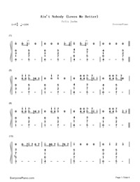 Ain't Nobody (Loves Me Better) Numbered Musical Notation Preview 1