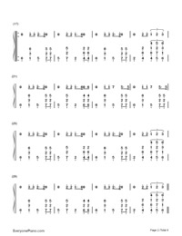 Ain't Nobody (Loves Me Better) Numbered Musical Notation Preview 2
