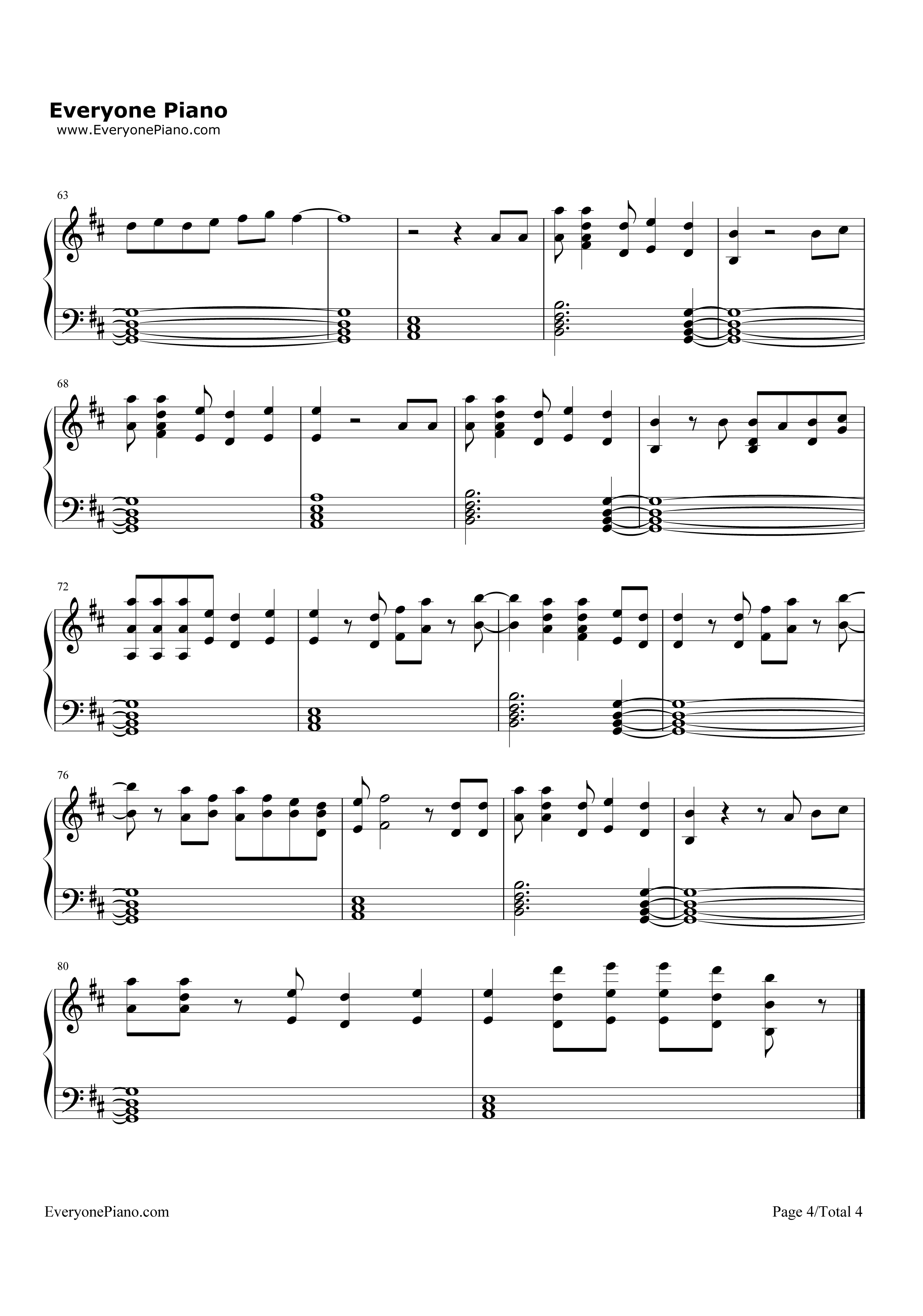 Never Forget You-Zara Larsson,MNEK Stave Preview 4-Free Piano Sheet Music u0026 Piano Chords