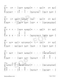 大魚-周深雙手簡譜預覽2