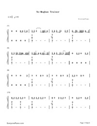 No-Meghan Trainor-Numbered-Musical-Notation-Preview-1