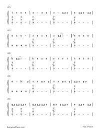 No-Meghan Trainor-Numbered-Musical-Notation-Preview-3