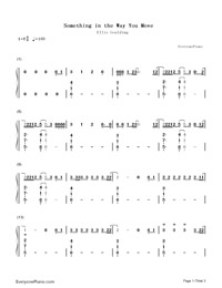 Something in the Way You Move-Numbered-Musical-Notation-Preview-1