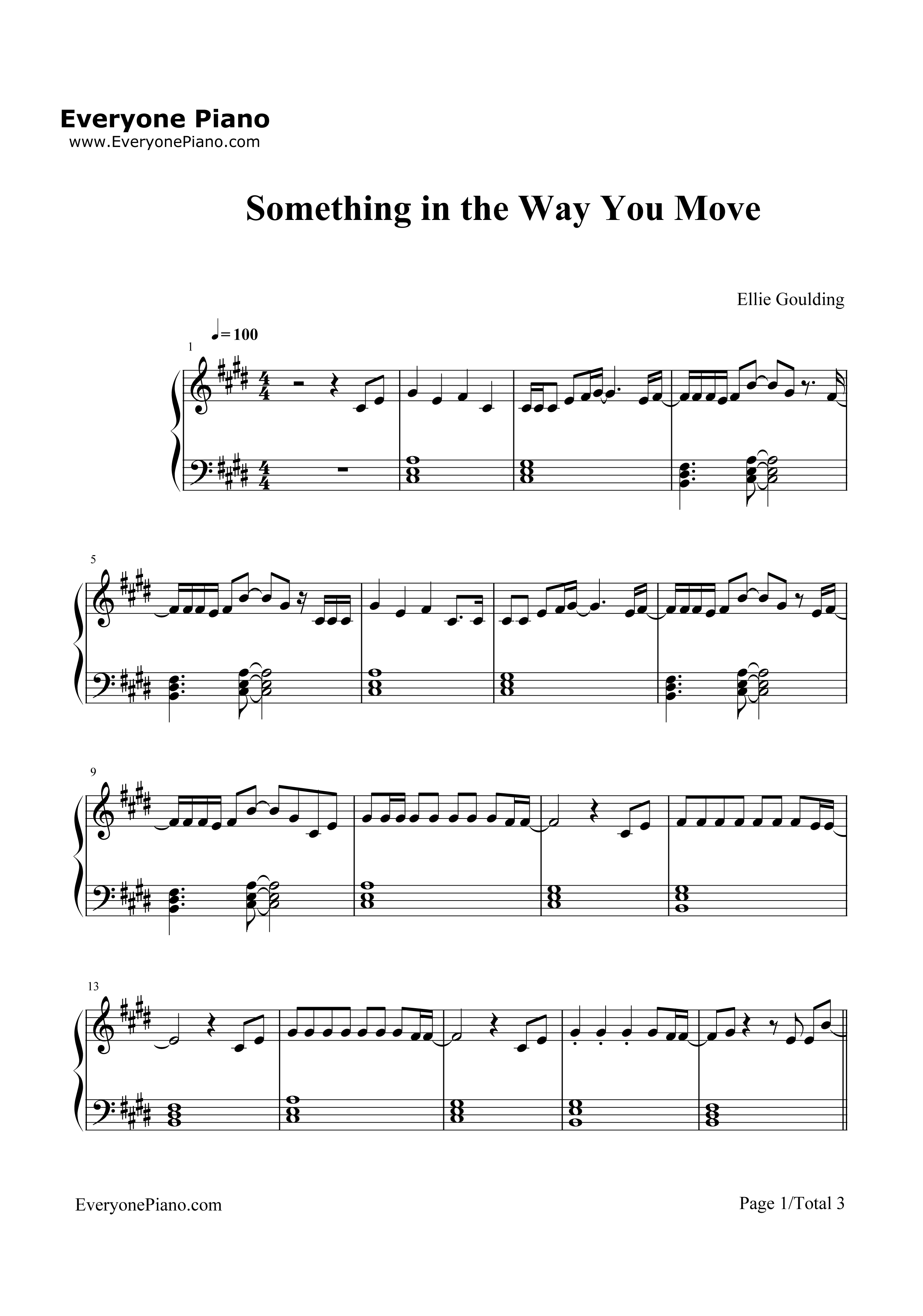Something in the Way You Move Stave Preview 1