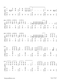 Don't Let Me Down-The Chainsmokers-Numbered-Musical-Notation-Preview-2