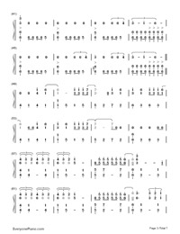 Don't Let Me Down-The Chainsmokers-Numbered-Musical-Notation-Preview-3