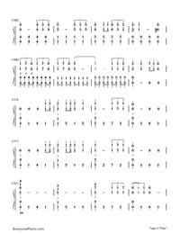Don't Let Me Down-The Chainsmokers-Numbered-Musical-Notation-Preview-6