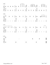 Don't Let Me Down-The Chainsmokers-Numbered-Musical-Notation-Preview-7