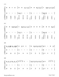 Dont Let Me Down(three-part)-The Chainsmokers-Numbered-Musical-Notation-Preview-2