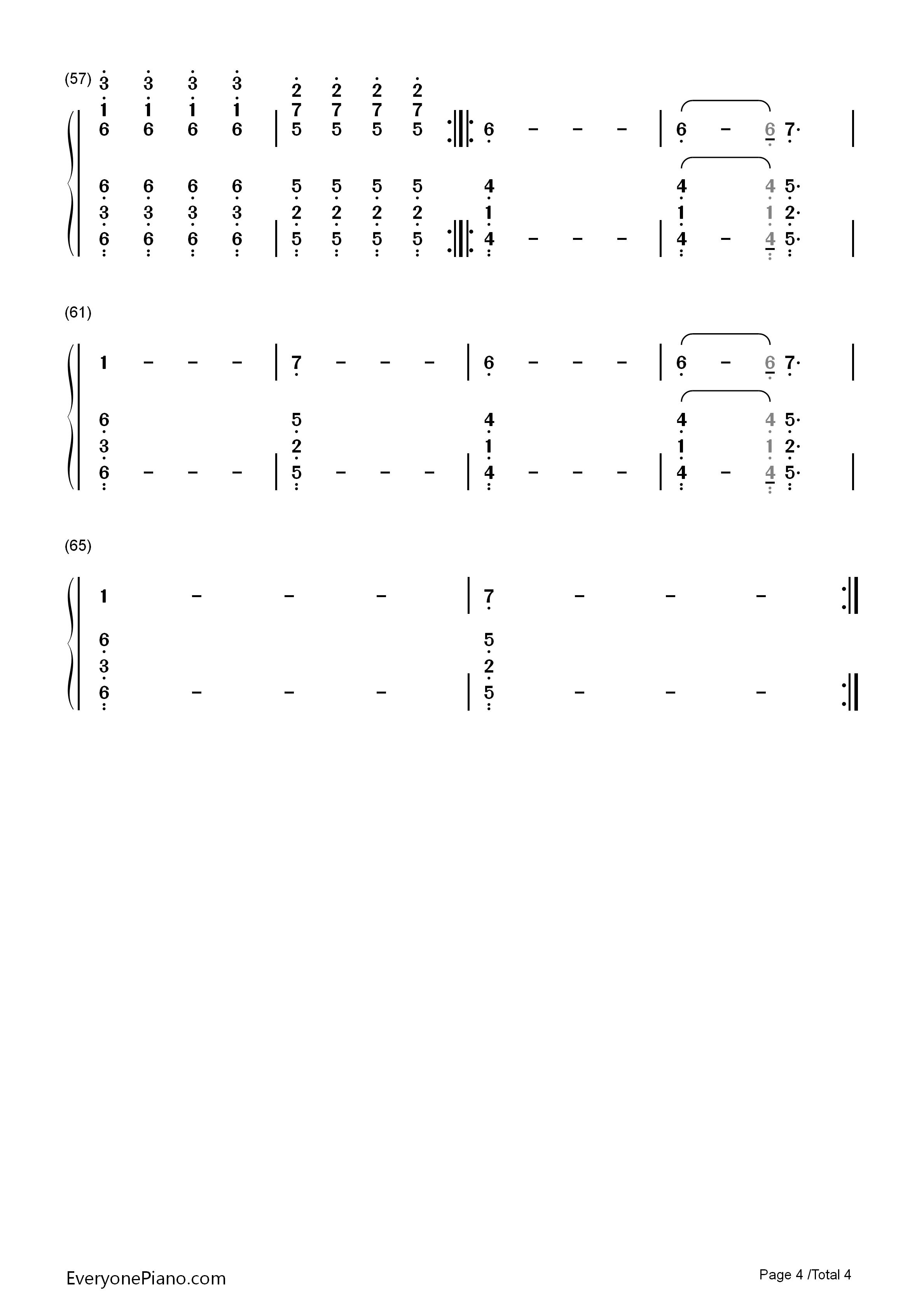 Car Radio-Twenty One Pilots Numbered Musical Notation Preview 4-Free Piano Sheet Music u0026 Piano ...