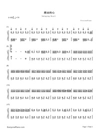 Swinging Heart-Numbered-Musical-Notation-Preview-1