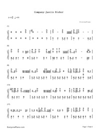 Company-Justin Bieber-Numbered-Musical-Notation-Preview-1