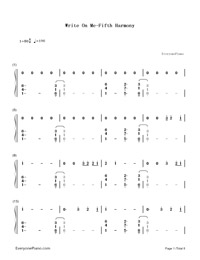 How to write piano chords