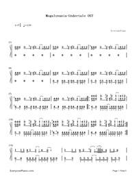 Megalovania-Undertale OST- Free Piano Sheet Music & Piano Chords