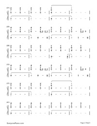 Life Is Worth Living-Justin Bieber-Numbered-Musical-Notation-Preview-2