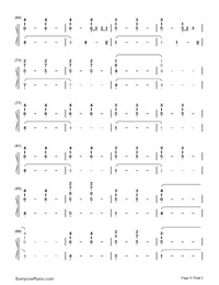 Life Is Worth Living-Justin Bieber-Numbered-Musical-Notation-Preview-4