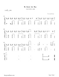 We Know the Way-Moana-Numbered-Musical-Notation-Preview-1