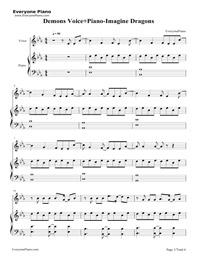 Demons Voice+Piano-Imagine Dragons Free Piano Sheet Music & Piano Chords