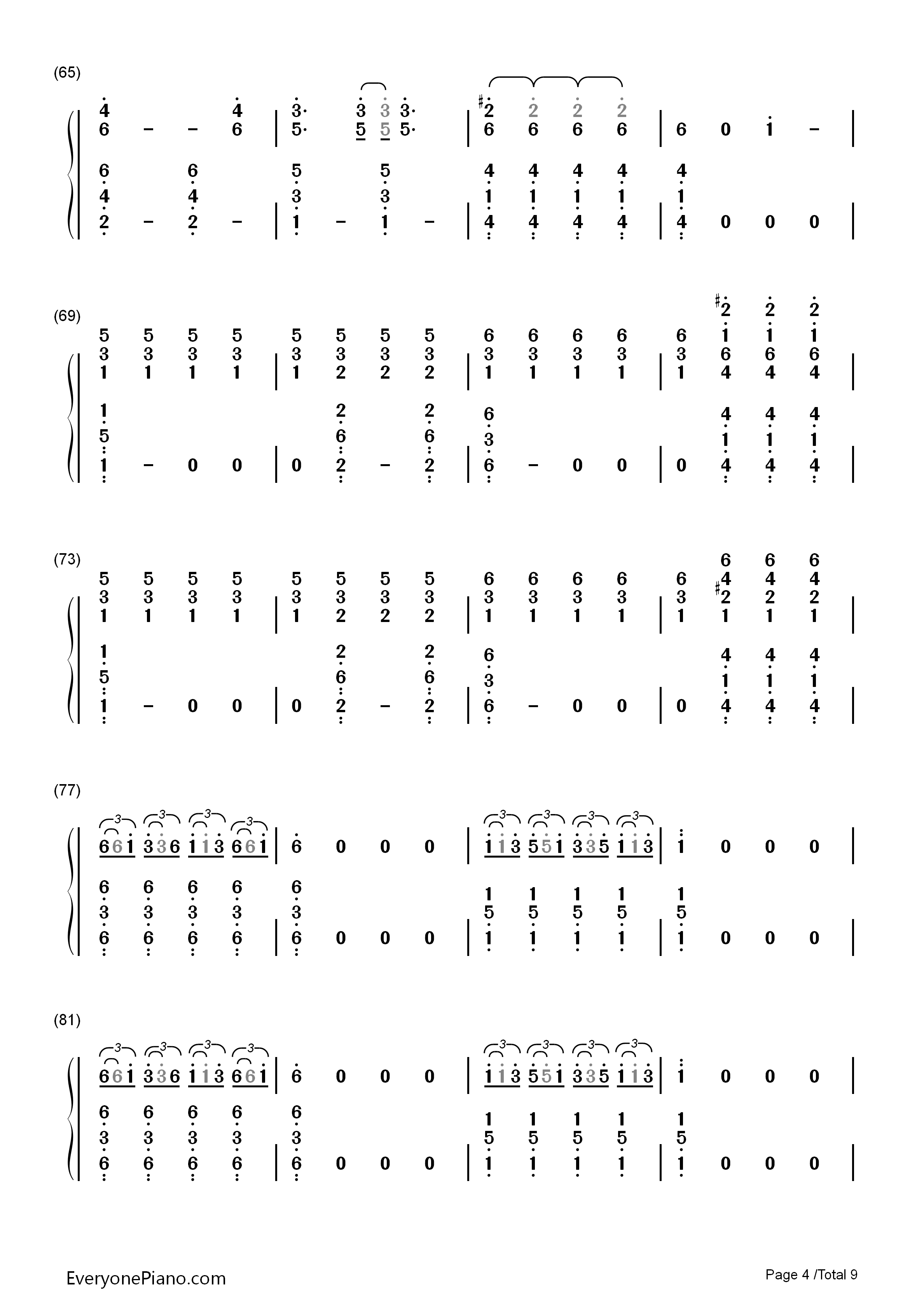 Migraine twenty one pilots numbered musical notation preview 4 listen now print sheet migraine twenty one pilots numbered musical notation preview 4 hexwebz Images