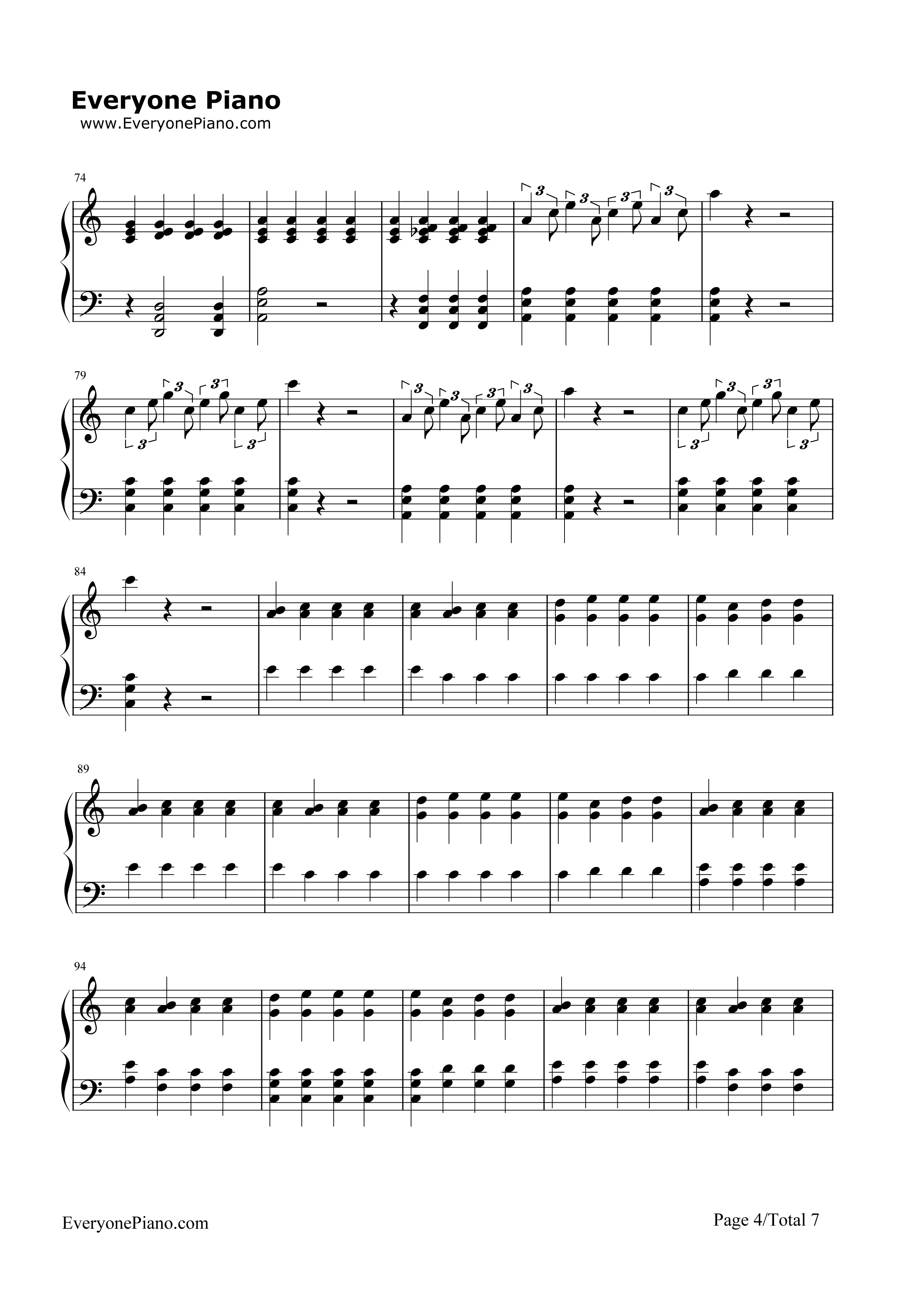 Migraine twenty one pilots stave preview 4 free piano sheet music listen now print sheet migraine twenty one pilots stave preview 4 hexwebz Images