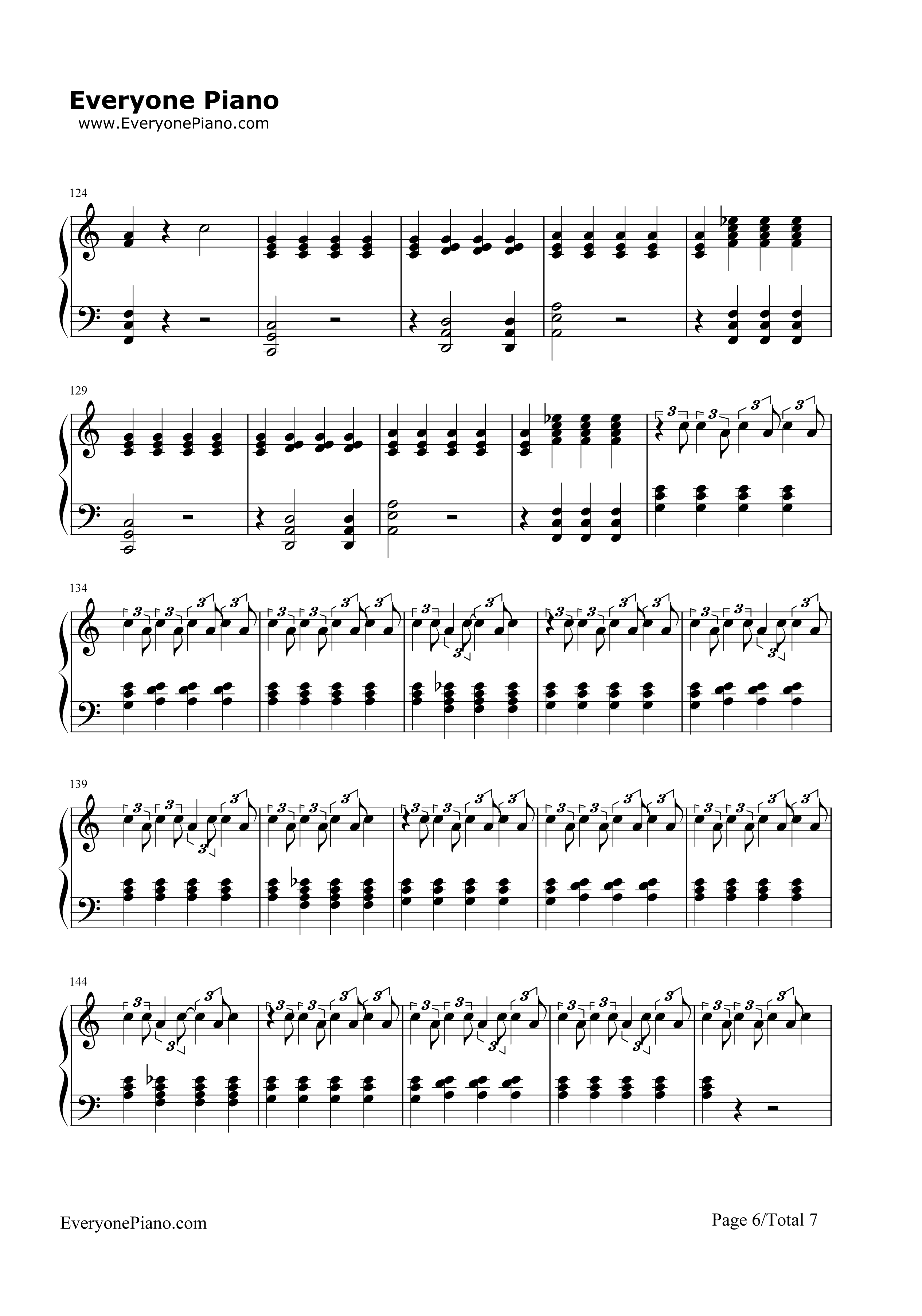 Migraine twenty one pilots stave preview 6 free piano sheet music listen now print sheet migraine twenty one pilots stave preview 6 hexwebz Images