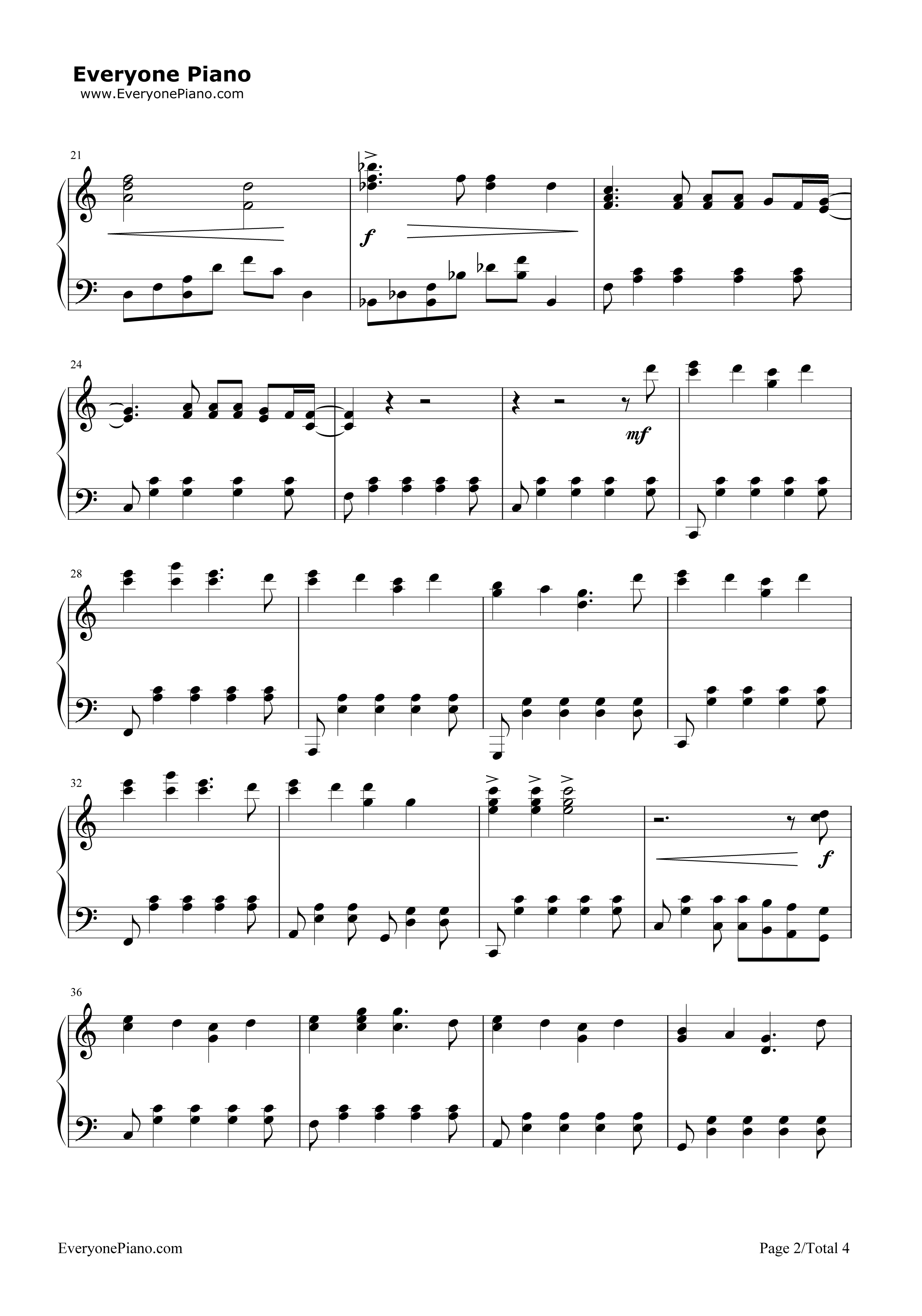 House Of Gold-Twenty One Pilots Stave Preview 2-Free Piano Sheet Music u0026 Piano Chords