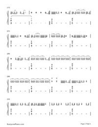 I Hate U, I Love U-Gnash-Numbered-Musical-Notation-Preview-2