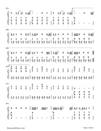 Hands of Love-Miley Cyrus-Numbered-Musical-Notation-Preview-2