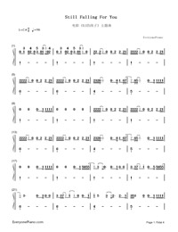 Still Falling for You-Bridget Jones's Baby theme song-Numbered-Musical-Notation-Preview-1