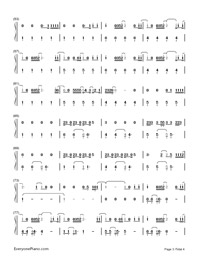 Still Falling for You-Bridget Jones's Baby theme song-Numbered-Musical-Notation-Preview-3