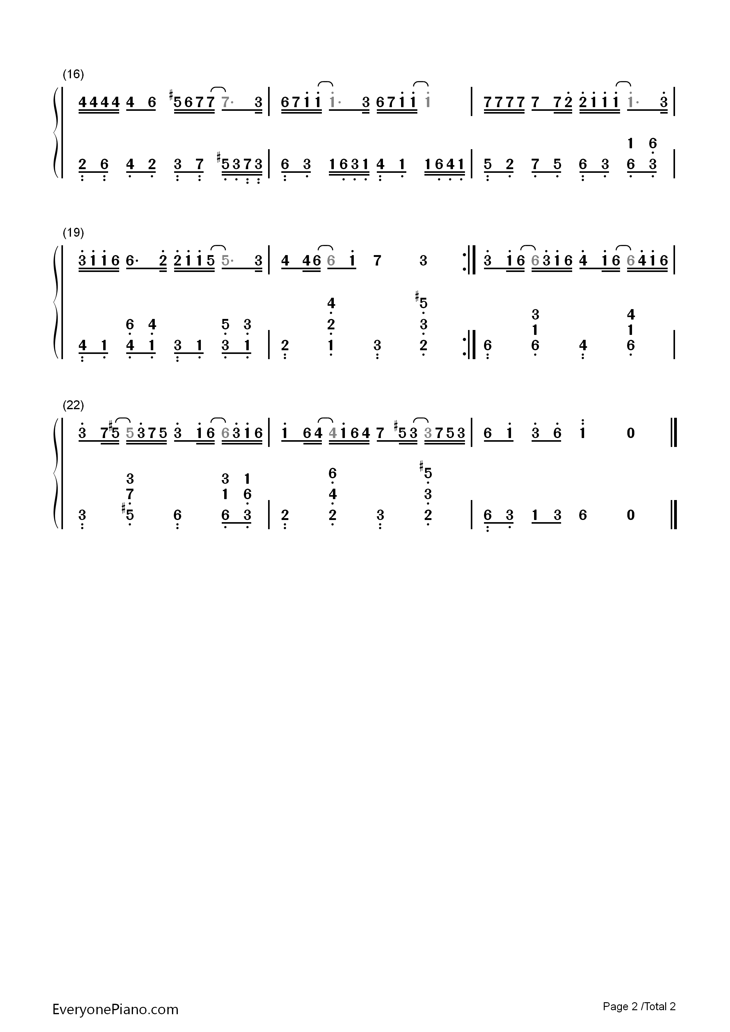 ... Musical Notation Preview 3-Free Piano Sheet Music & Piano Chords