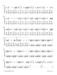 Let Me Love You-DJ Snake,Justin Bieber-Numbered-Musical-Notation-Preview-2